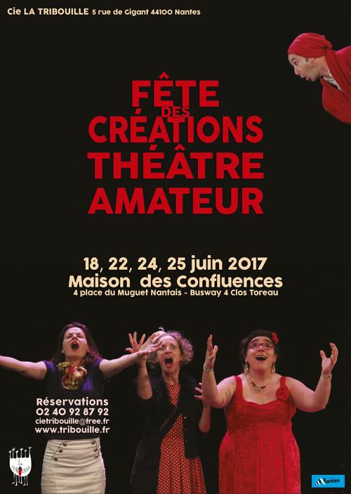 Affiche fête des créations amateurs 2017 Tribouille
